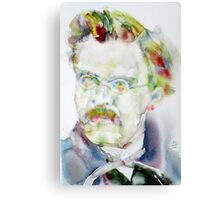 FRIEDRICH NIETZSCHE watercolor portrait.6 Canvas Print