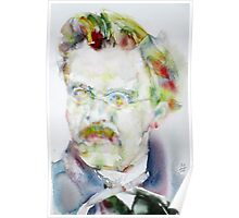 FRIEDRICH NIETZSCHE watercolor portrait.6 Poster