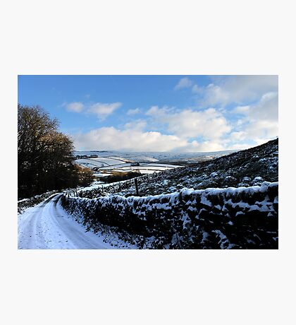 Sweeping Road, Gnat Hole, Glossop Photographic Print