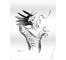 Imperial Dragon - Japanese Brush Painting Poster