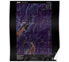 USGS Topo Map Washington State belfair wa histmap Inverted Poster