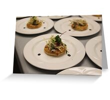 Pear Tartlet  with Cabrelese Blue Greeting Card