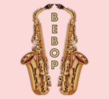 Saxophone Bebop Jazz Baby Tee