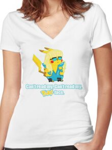 Pokeface Women's Fitted V-Neck T-Shirt