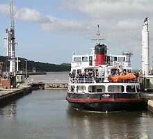 Ferry, Down the Ship Canal  by Barrie Woodward