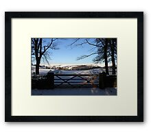 """Gateway to the Peaks"" Framed Print"