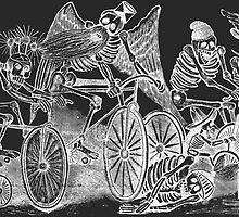 Muertas Bicicleta - Posada's Cycling Dead (for dark colors) by Luna Mer