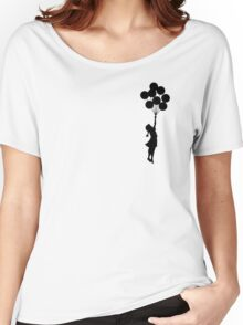 Girl floating away Women's Relaxed Fit T-Shirt