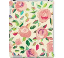 Pastel Roses in Blush Pink and Cream iPad Case/Skin