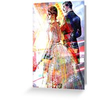 EVENING COURTING Greeting Card