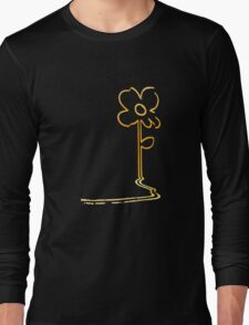 Banksy's wall flower Long Sleeve T-Shirt