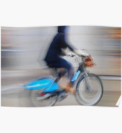 Boris Bikes ( Blurred Series) Poster