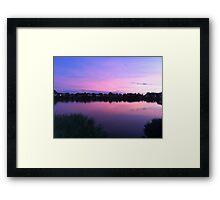 Sunset over Ocean Neighbors Framed Print