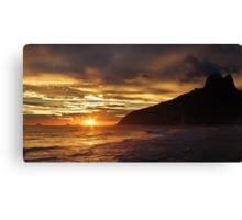Sunset at Ipanema Beach Canvas Print