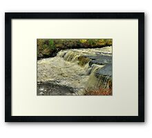 Middle Falls Aysgarth - HDR Framed Print