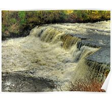 Middle Falls Aysgarth - HDR Poster