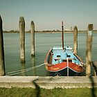 Fishing Boat, Burano by Louise Fahy