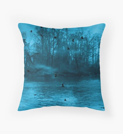 Birds, Birds, Birds Everywhere Throw Pillow