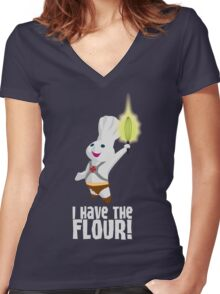 I HAVE THE FLOUR Women's Fitted V-Neck T-Shirt