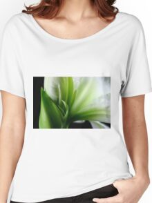 White & Green Women's Relaxed Fit T-Shirt