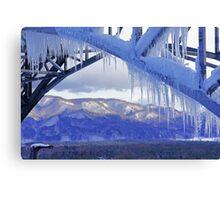 Icicles on Ski Jump Canvas Print