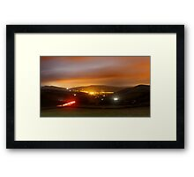Hayfield by night Framed Print