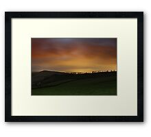 Night Glow over Matley Moor Framed Print