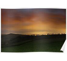 Night Glow over Matley Moor Poster