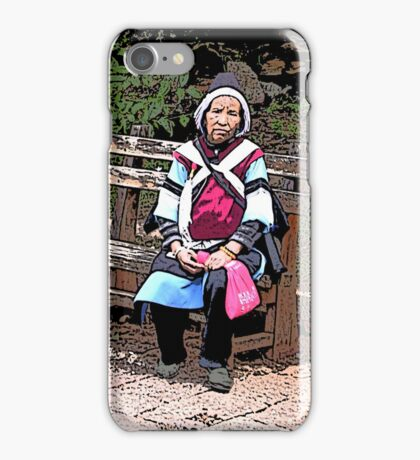 Lady in traditional dress iPhone Case/Skin