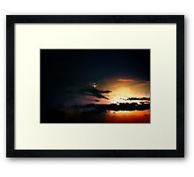 747  evening flight  Framed Print