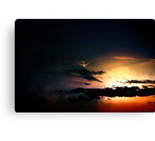 747  evening flight  Canvas Print
