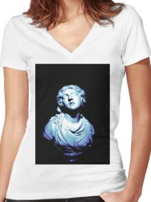 Gradient Scultpure #2 Women's Fitted V-Neck T-Shirt