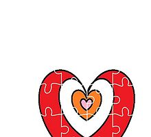 hearts puzzle for iPhone by MaaikeDesign