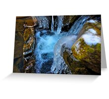 Water Flowing Over Rocks 2 Greeting Card