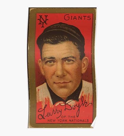 Benjamin K Edwards Collection Lawrence Doyle New York Giants baseball card portrait Poster