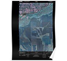 USGS Topo Map Washington State WA Whitstran 20110407 TM Inverted Poster
