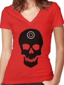 Shoot Me Women's Fitted V-Neck T-Shirt