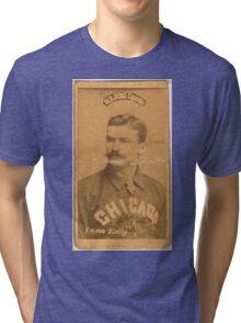 Benjamin K Edwards Collection King Kelly Chicago White Stockings baseball card portrait Tri-blend T-Shirt