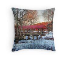 Bridge To The Farm Throw Pillow