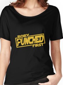 Rory punched first - Star Wars Doctor Who meshup Women's Relaxed Fit T-Shirt