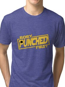 Rory punched first - Star Wars Doctor Who meshup Tri-blend T-Shirt