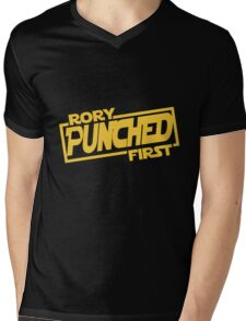Rory punched first - Star Wars Doctor Who meshup Mens V-Neck T-Shirt