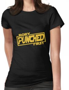 Rory punched first - Star Wars Doctor Who meshup Womens Fitted T-Shirt