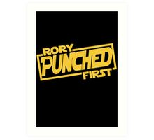 Rory punched first - Star Wars Doctor Who meshup Art Print