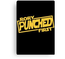 Rory punched first - Star Wars Doctor Who meshup Canvas Print
