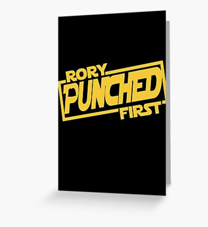 Rory punched first - Star Wars Doctor Who meshup Greeting Card