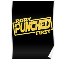 Rory punched first - Star Wars Doctor Who meshup Poster