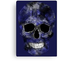 Blue Washed Skull Canvas Print