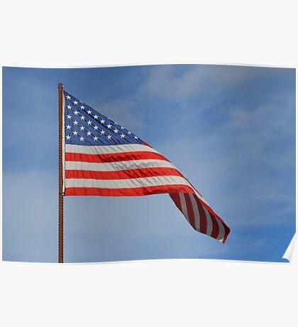 American Flag waving Poster