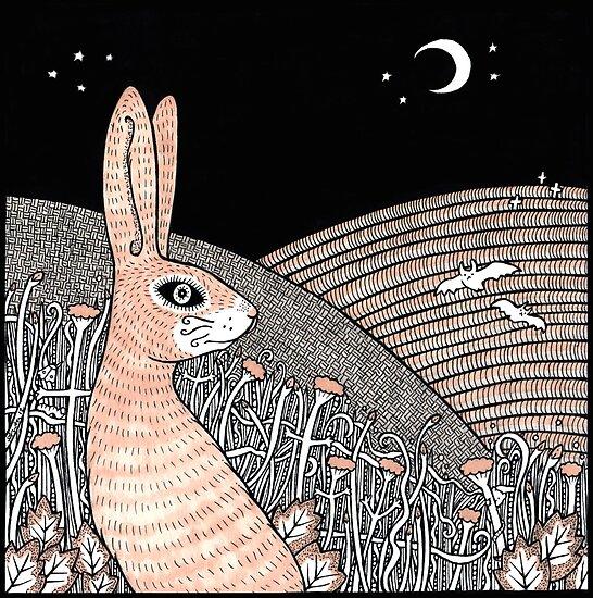 Moon Gazing Hare by Anita Inverarity